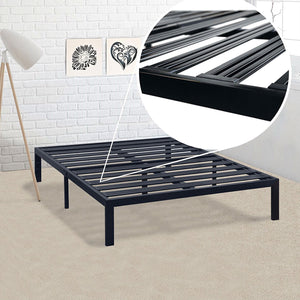 Twin XL Metal Platform Bed Frame with Heavy Duty Steel Slats