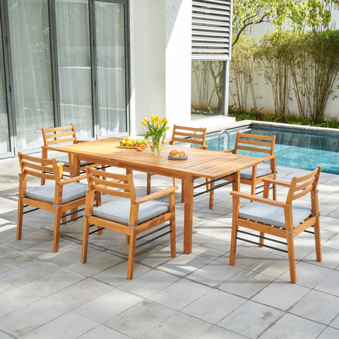 Image of 7-Piece Gloucester Teak-like Dining Set