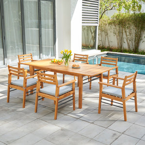 7-Piece Gloucester Teak-like Dining Set