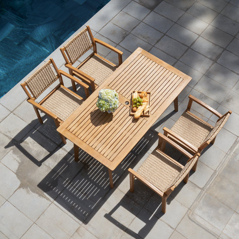 5-Piece Chesapeake Outdoor Natural Wood Dining Set