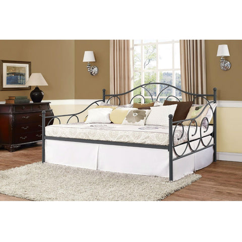 Full size Metal Daybed Frame Contemporary Design Day Bed in Bronze Finish