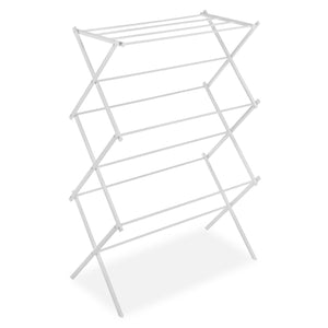 White Folding Laundry Dryer Clothes Drying Rack - Sturdy Steel Desig