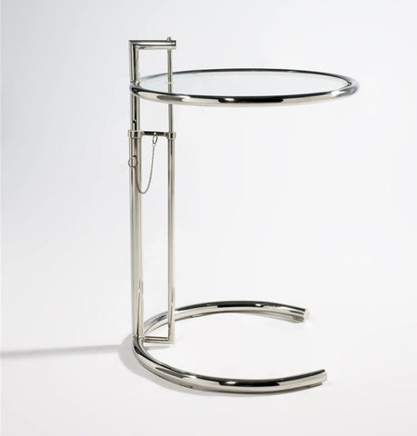 Image of E1027 Side Table - Stainless Steel - Reproduction