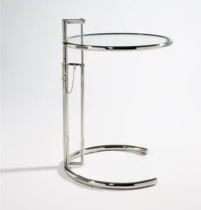 E1027 Side Table - Stainless Steel - Reproduction