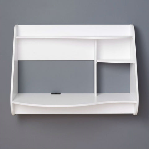 Modern Wall-Mount Laptop Computer Desk in White