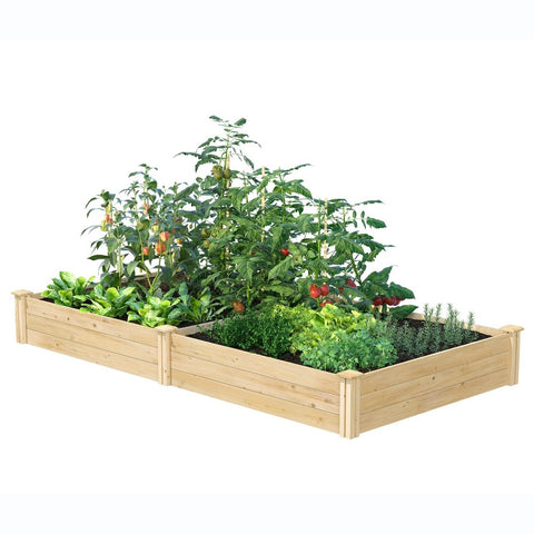 Cedar 4ft x 8ft x 10.5in Raised Garden Bed - Made in USA
