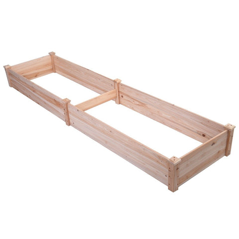 Solid Wood 8 ft x 2 ft Raised Garden Bed Planter