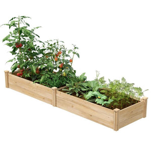2 ft x 8 ft Cedar Wood Raised Garden Bed - Made in USA