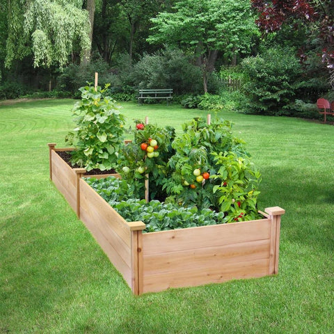 Image of 2 ft x 8 ft Cedar Wood Raised Garden Bed - Made in USA
