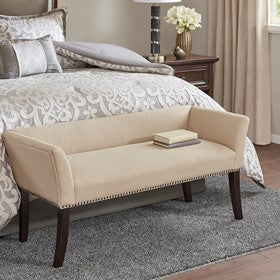 Welburn Cream Accent Bench (ETA 10/30/2020)