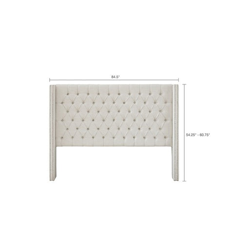 Image of Queen Size Amelia Upholstery Cream Headboard