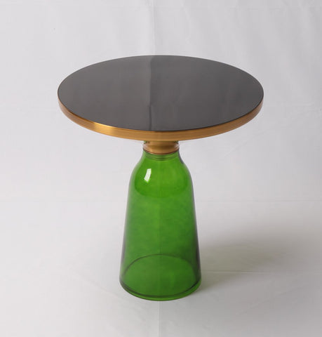 Image of Karin Table Side Table - Gold & Green