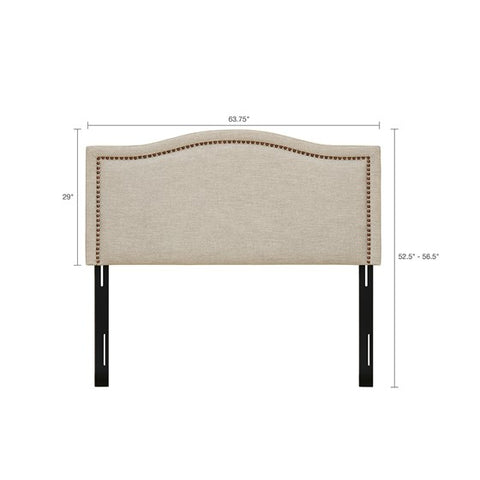 Queen Size Nadine Upholstery Natural Headboard
