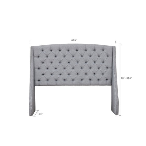 King Size Harper Upholstery Grey Headboard (Almost Gone)
