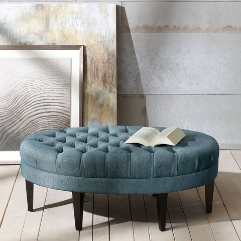 Image of Martin Surfboard Blue Tufted Ottoman