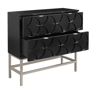Sonata Accent Black Chest with 2 Drawers