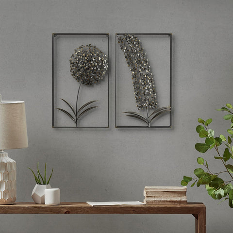 Metal Garden Botanical Metal Wall Decor