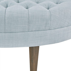 Martin Surfboard Light Blue Tufted Ottoman (Almost Gone)