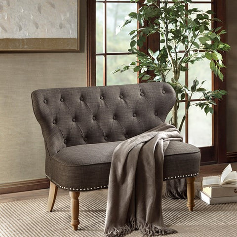 Image of Stanford Settee Charcoal
