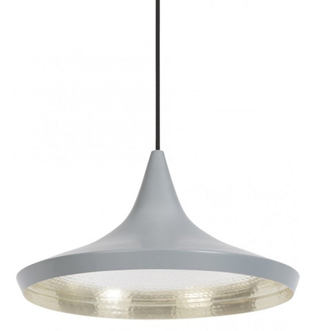 Beat Shade Wide Pendant Lamp - Grey - Reproduction