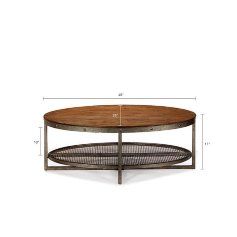 Image of Sheridan Chestnut Oval coffee Table (Almost Gone)
