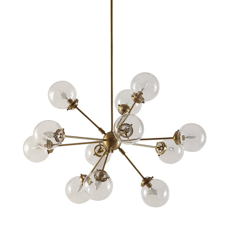 Image of Paige 12 Bulb Gold Chandelier