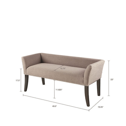 Image of Welburn Grey Accent Bench (ETA 10/30/2020)