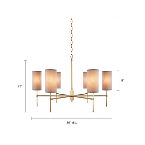 Image of Conrad 6 Bulb Chandelier