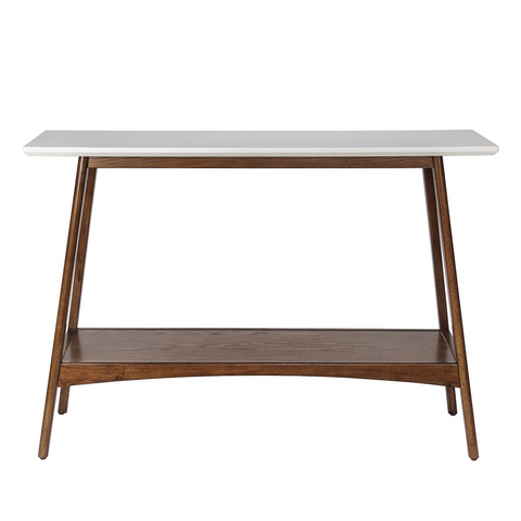 Image of Parker Console Table White Pecan