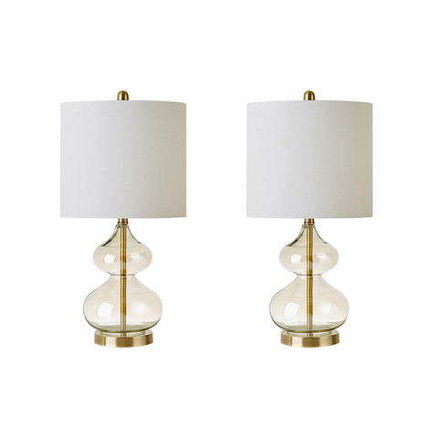 Image of Ellipse Gold Table Lamp Set Of 2