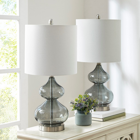 Ellipse Grey Table Lamp Set Of 2