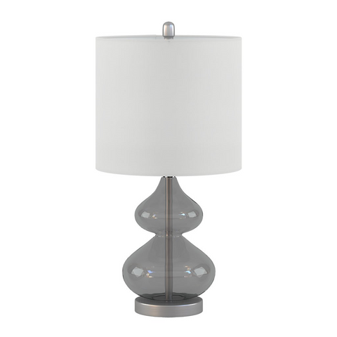 Image of Ellipse Grey Table Lamp Set Of 2