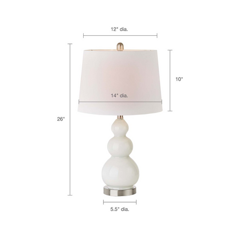 Covey White Table Lamp set of 2