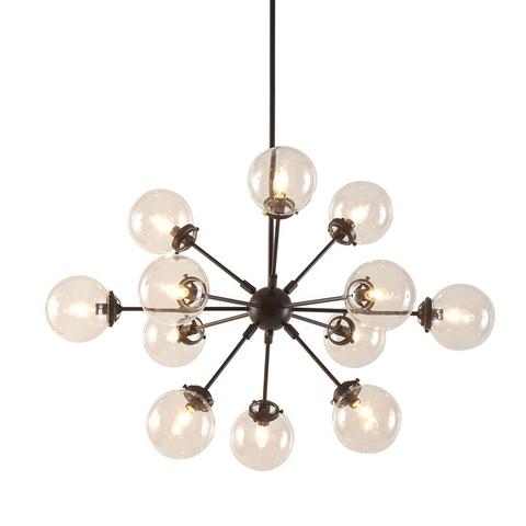 Image of Paige 12 Bulb Silver Chandelier (Almost Gone)