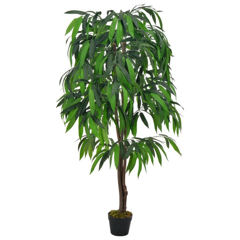 Artificial Plant Mango Tree with Pot Green 55.1""