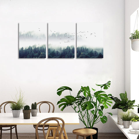 Image of Misty Trees Artwork Canvas