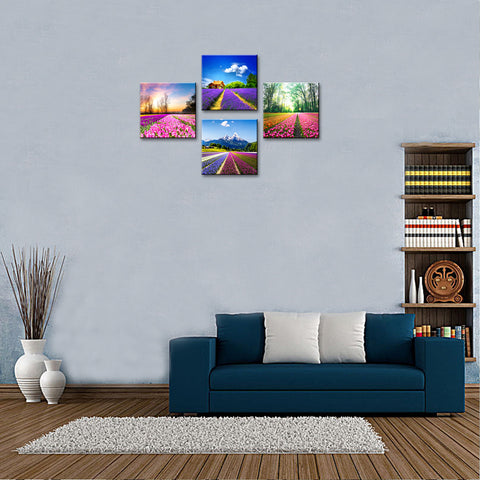 Tulip Lavender Field Wall Art