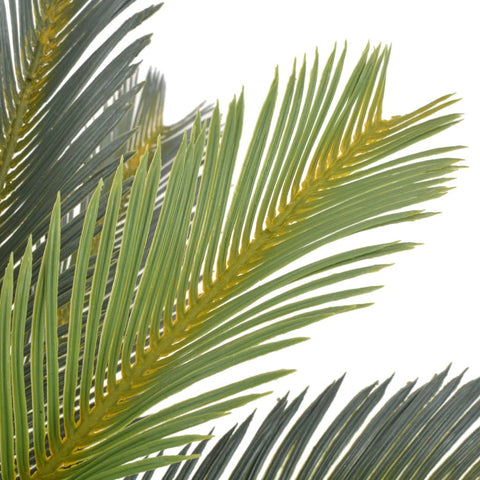 Image of Artificial Plant Cycas Palm with Pot Green 35.4""