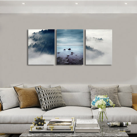 Image of Foggy Forest Wall Art