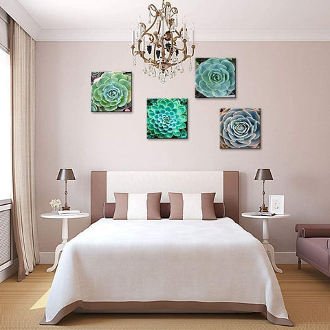 Green Agave Succulents Decor