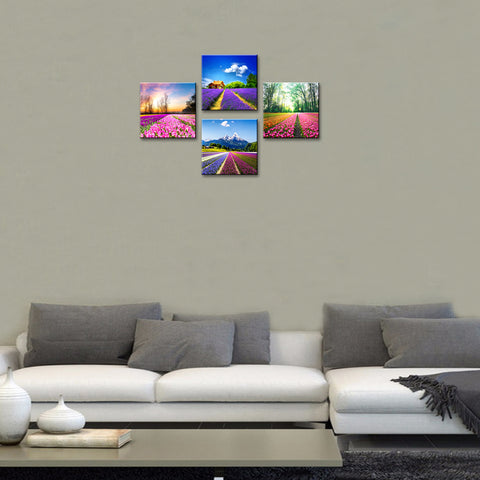 Image of Tulip Lavender Field Wall Art
