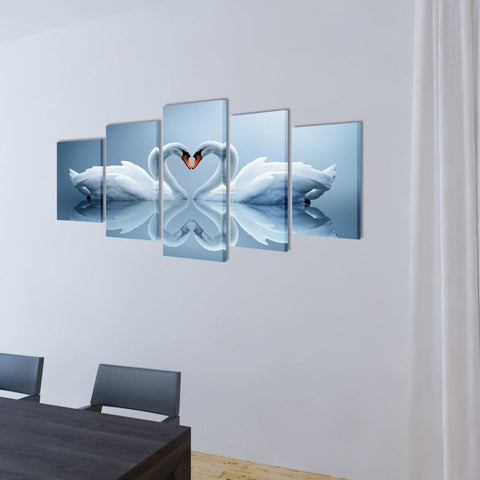 Image of Swan Life Canvas Art