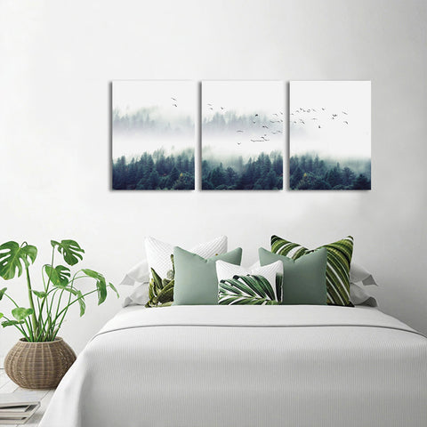 Misty Trees Artwork Canvas