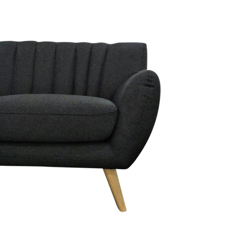 Image of Lilly 2-Seater Sofa - Dark Grey