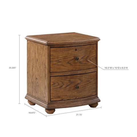 Image of Cascade Brown Wood Bedside (Almost Gone)