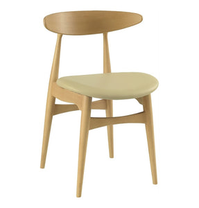 Tricia Dining Chair - Oak & Cream