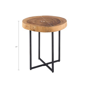 Arcadia Wood Slab End Table