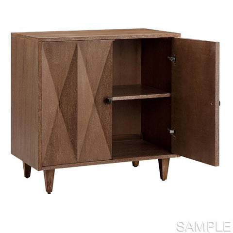 Adeline 2 Door Brown Accent Cabinet