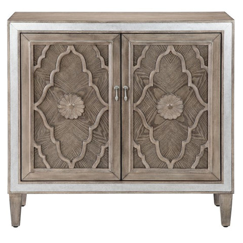 Annalise 2-Door Natural Accent Cabinet