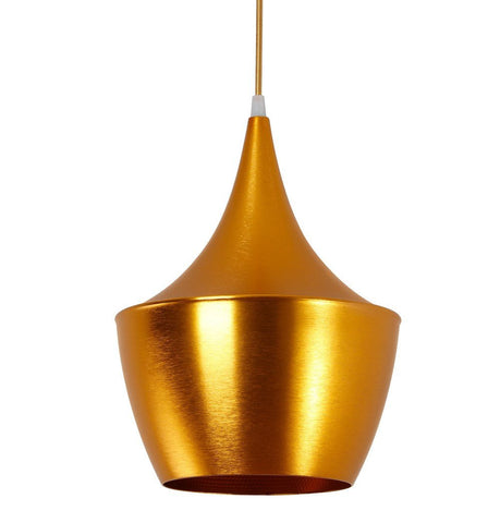 Beat Shade Fat Pendant Lamp - Gold - Reproduction